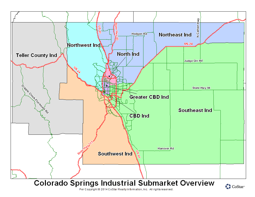 Industrial Submarket Map-Costar-Colorado Springs
