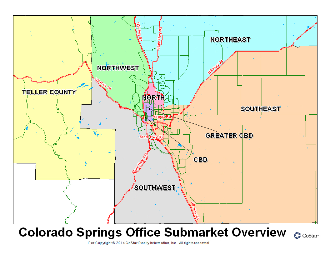 Office Submarket Map-Costar-Colorado Springs